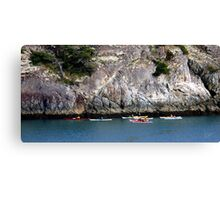 Bowman Bay Kayakers One Canvas Print