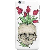 Skull flower vase iPhone Case/Skin
