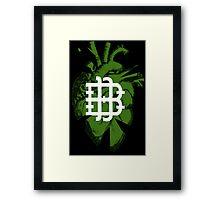 Broken Betis Heart Framed Print