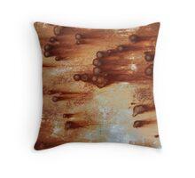 Rust Comets 2 Throw Pillow