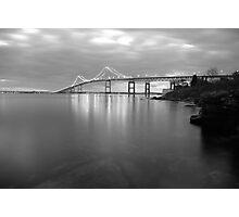 Claiborne Pell Sunrise Black and White Photographic Print