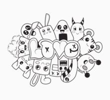 Doodle Love /Black and White Kids Clothes
