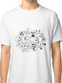 Doodle Love /Black and White Classic T-Shirt