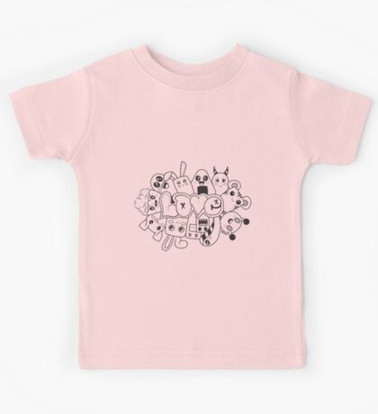 Doodle Love /Black and White Kids Tee