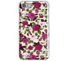 Pink Country Flower Print iPhone Case/Skin