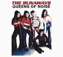 THE RUNAWAYS Queens Of Noise T-Shirt  by MOSSOPGRAPHIX