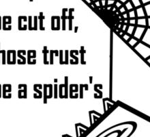 trust the web  Sticker