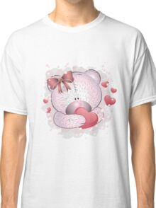 Pink bear with heart Classic T-Shirt