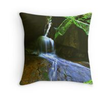 Waterfall at Mount Stong Throw Pillow