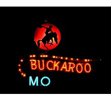 Buckaroo Motel Sign, Tucumcari, New Mexico Photographic Print