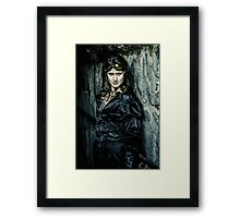 The Steampunker: Dark Steamtress Framed Print