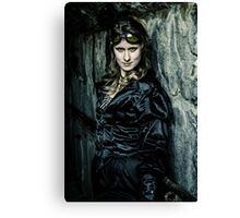 The Steampunker: Dark Steamtress Canvas Print