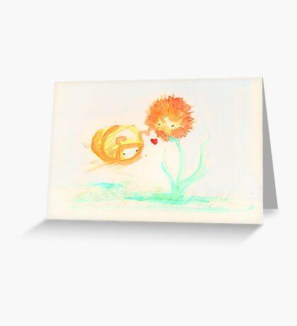 Dandy lion Greeting Card