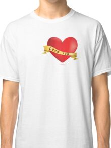 Red hearts with ribbon Classic T-Shirt