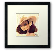 Hat and Flowers on summer Framed Print
