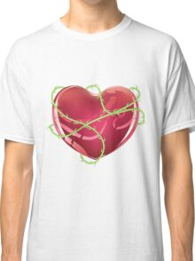 Red Heart with Thorns Classic T-Shirt
