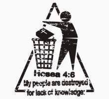 Hoea 4:6 - lack of knowledge Kids Clothes