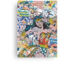 Vintage Comic Wonder Woman Canvas Print