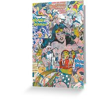 Vintage Comic Wonder Woman Greeting Card