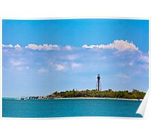 Sanibel LIghthouse and Pier Poster