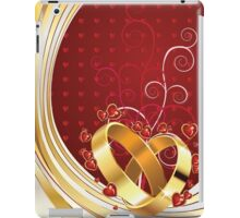 Wedding rings and floral iPad Case/Skin
