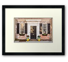 Pretty Home Front Framed Print