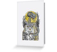Owl vs snake Greeting Card