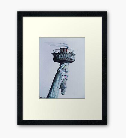 Extinguished Liberty  Framed Print