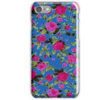 Pink and Blue Country Floral Pattern iPhone Case/Skin