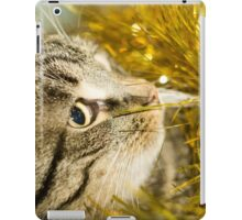 Tabby Cat and Yellow Tinsel 8 iPad Case/Skin