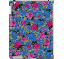 Pink and Blue Country Floral Pattern iPad Case/Skin
