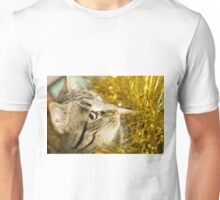 Tabby Cat and Yellow Tinsel 8 Unisex T-Shirt