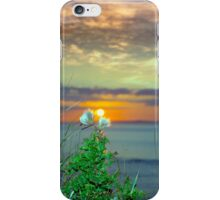 yellow sunset over loop head with thistles iPhone Case/Skin