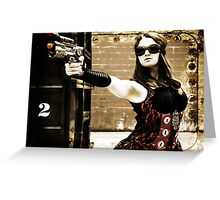 The Steampunker: Raven the Renegade Greeting Card