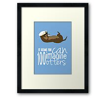 Ottery Kisses and Gifts of GERTI Framed Print