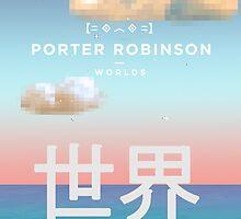 Porter Robinson Worlds Kaomoji Logo Design by charisb123