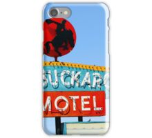 Buckaroo Motel Sign, Tucumcari, New Mexico iPhone Case/Skin