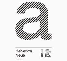 a .... Helvetica Neue (b) One Piece - Long Sleeve