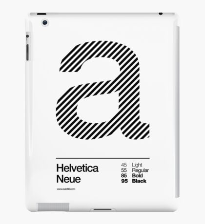 a .... Helvetica Neue (b) iPad Case/Skin