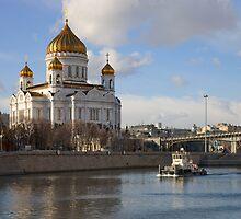 Spring river by Mikhail Kovalev