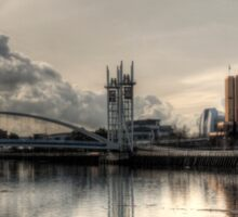 Bridge over Salford Quays, Manchester, UK Sticker