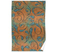 Copper Patina and Vines Poster
