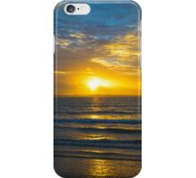 yellow sunset rays from beal beach iPhone Case/Skin