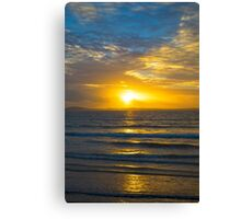 yellow sunset rays from beal beach Canvas Print
