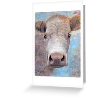 White Cow Greeting Card
