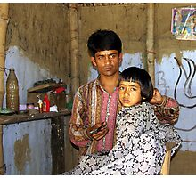 Assamese barber shop Photographic Print