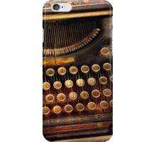 Steampunk - Just an ordinary typewriter  iPhone Case/Skin