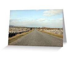 Rural Burren road Greeting Card