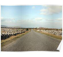 Rural Burren road Poster