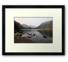 Early morning in Glendalough valley Framed Print